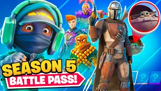 SEASON 5 *INSANE* BATTLEPASS! (100% Unlocked)