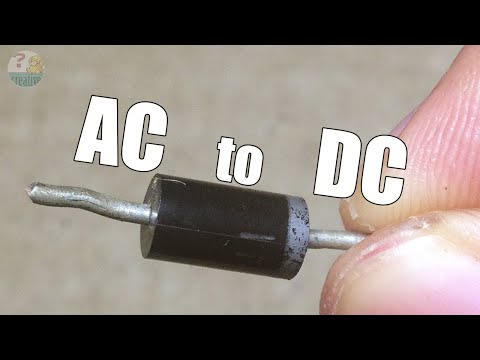 One diode - AC to DC Half Wave Rectifier