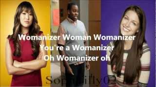 Glee - Womanizer (Lyrics)