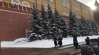 Guards change Red Square Moscow.
