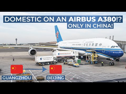 TRIPREPORT | China Southern Airlines (ECONOMY) | Airbus A380 | Guangzhou - Beijing