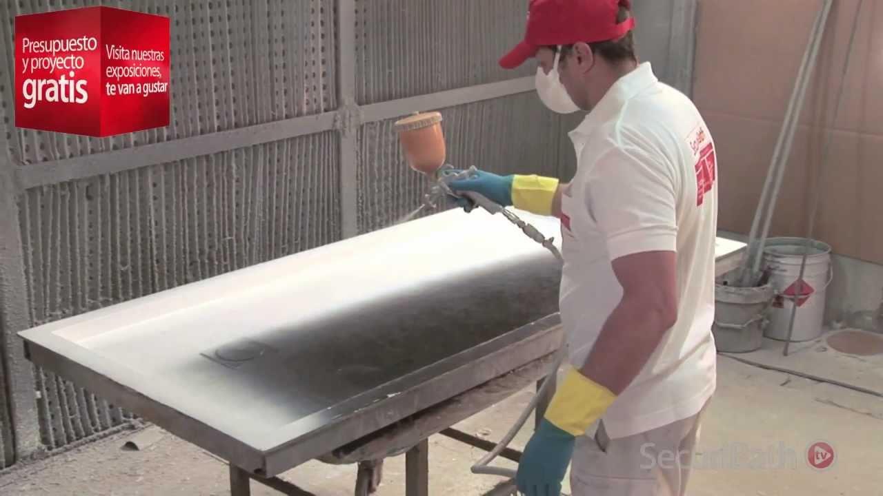 Así fabricamos nuestros platos de ducha - SecuriBath - YouTube