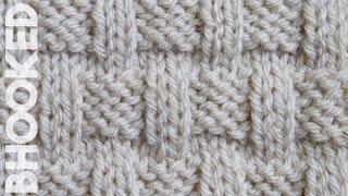 Simple Basket Weave Knitting Stitch Tutorial