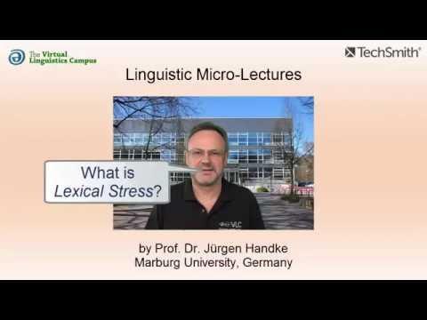 Lexical Stress ☆ Linguistics Lecture