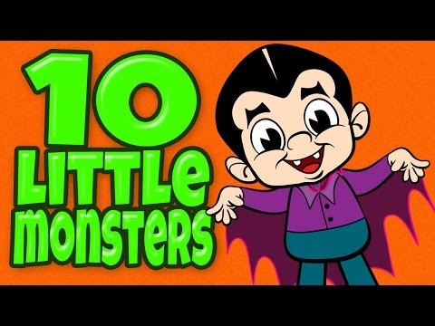 Halloween Song ♫ Halloween Songs For Children ♫ Halloween Halloween ♫ 10 Little Monsters ♫ Kids Song