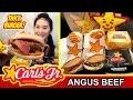 CARL'S JR THICKBURGERS (Eating Show - Mukbang) Peggie Eats S02E15