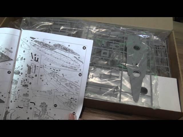 Распаковка и обзор сборной модели линкора Марат Звезда 1:350