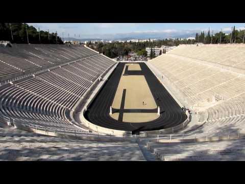 Inside the Panathenaic Stadium in Athens