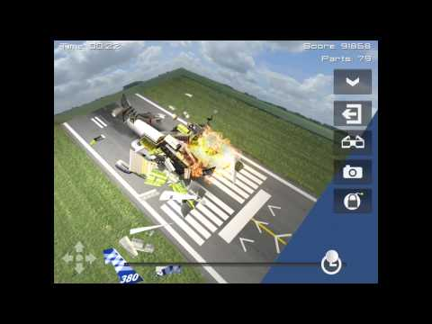 Disassembly 3D:Plane smash on Ipad 4