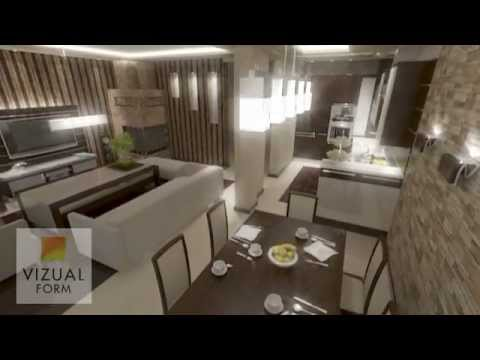 das projekt angeordnet wohnzimmer mit k che wohn und essbereich youtube. Black Bedroom Furniture Sets. Home Design Ideas