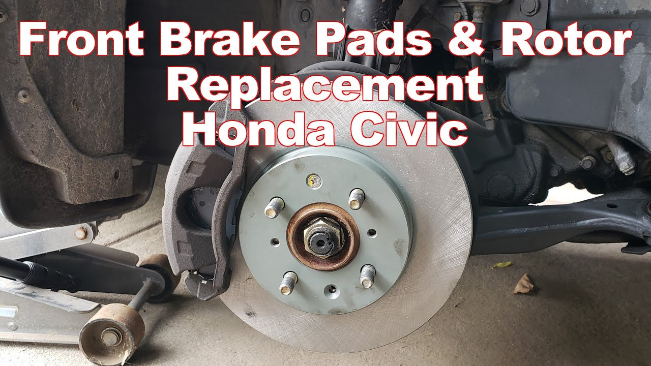 How to Replace Front Brake Pads and Rotors Honda Civic 2001-2005