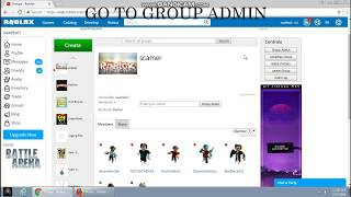 How to send robux in your friend (but you need builders club and make a group)