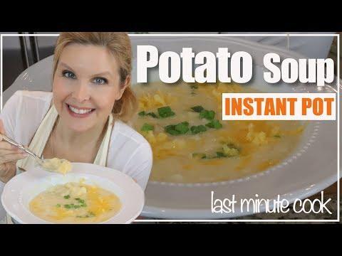 Potato Soup Instant Pot Recipe | Baked Potato Soup