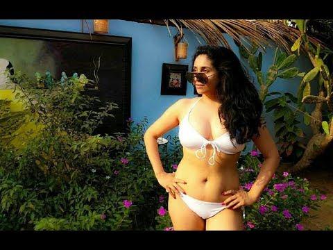 Neha Bhasin Hot Cameltoe In a White Bikini...