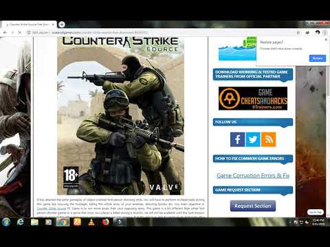 HOW TO DOWNLOAD COUNTER STRIKE SOURCE /WINDOW 7/OCEAN OF GAME//////