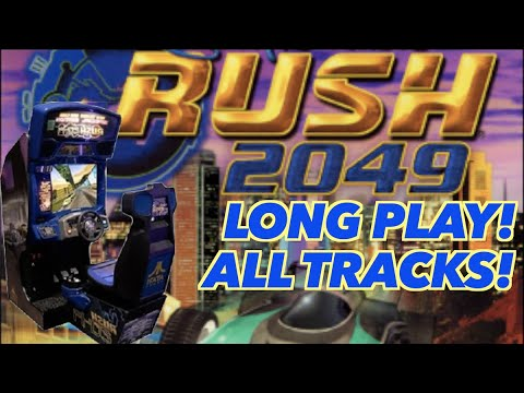 San Francisco Rush 2049 Long Play | All 5 Tracks from the Arcade on a Modded Arcade1Up! from Killer Arcade Games