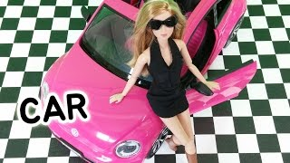 Barbie car Volkswagen Beetle and Doll Set &Frozen ElsaバービーフォルクスワーゲンビートルCarro de boneca barbie