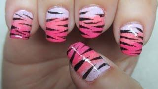 Zebra/Tiger Print Nail Art