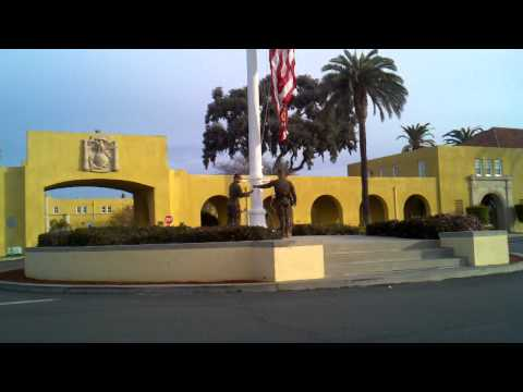 MCRD San Diego morning colors