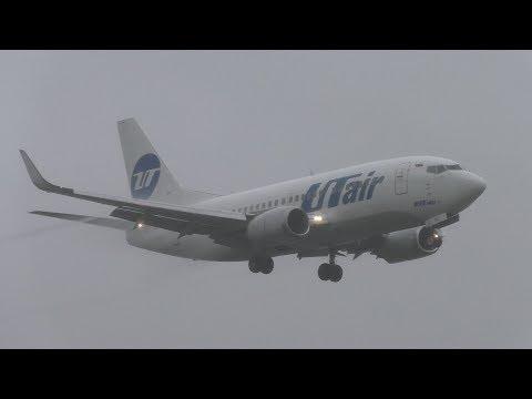BAD WEATHER UTair Boeing 737-524 VQ-BJL Landing at Berlin Tegel Airport