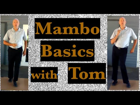 Mambo Basic steps for beginners Online dance lesson with Tom