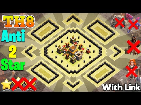 TH8 NEW War Base 2020 With Copy Link | UNBEATABLE Anti 2 Star Base | Anti Dragon | Anti GOWIPE