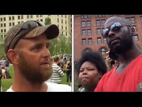Communists (self-identified) Argue With Trump Supporter at Cleveland RNC | July 21, 2016