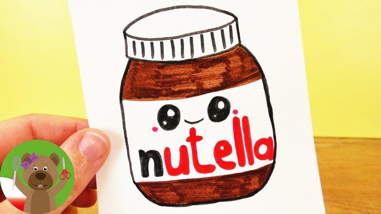 Malowanie i Rysowanie z dziećmi | słoik Nutelli | pomysł na kartki i zaproszenia