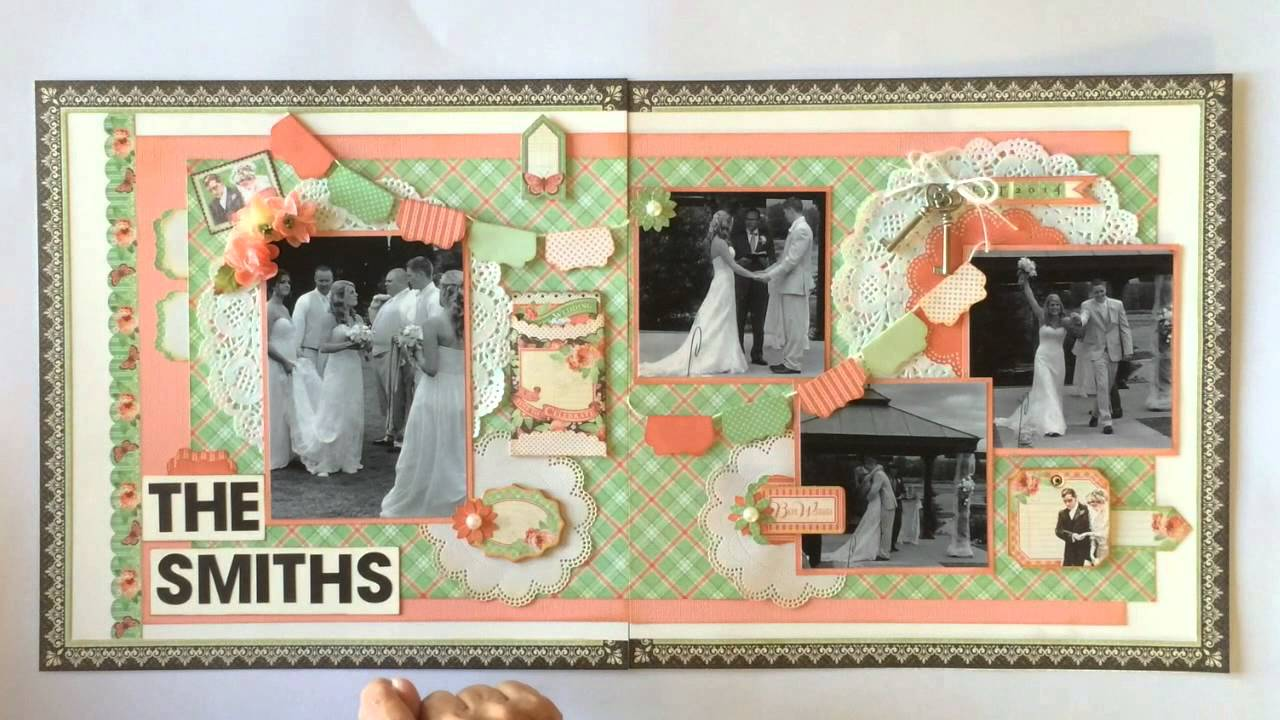 Graphic 45 Time To Celebrate 2 Page Scrapbook Layout Youtube