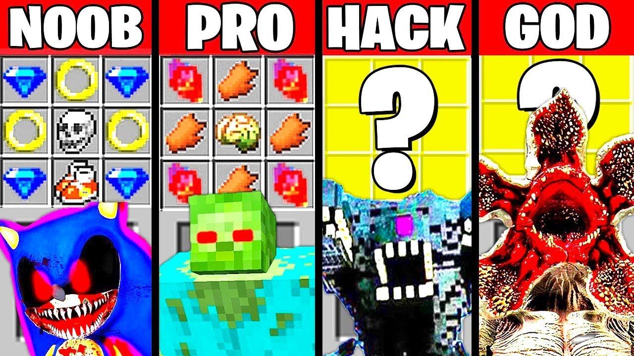 Minecraft Battle: MONSTER MUTANT CRAFTING CHALLENGE - NOOB vs PRO vs HACKER vs GOD ~ Funny Animation