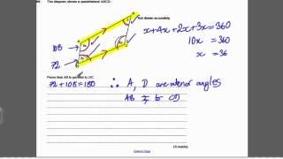 Circle Theorems 2 (GCSE Higher Maths)- Exam Qs 14