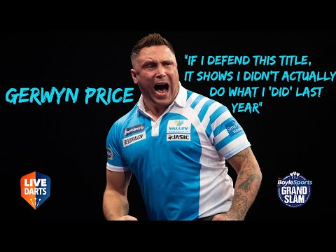 """Gerwyn Price: """"If I defend this title, it shows I didn't actually do what I 'did' last year"""""""