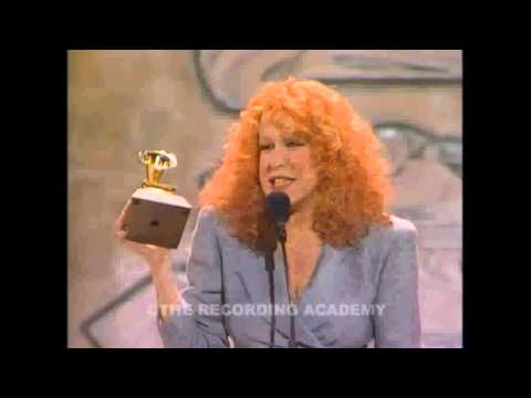 Bette Wins Record Of The Year ~ Wind Beneath My Wings