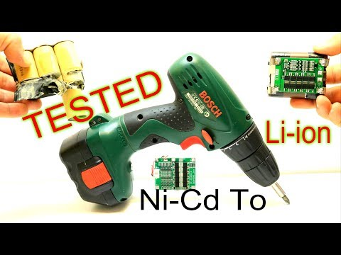 Change Old Dead BOSCH Battery/ NI-MH Ni-Cd To Li ion  With Test