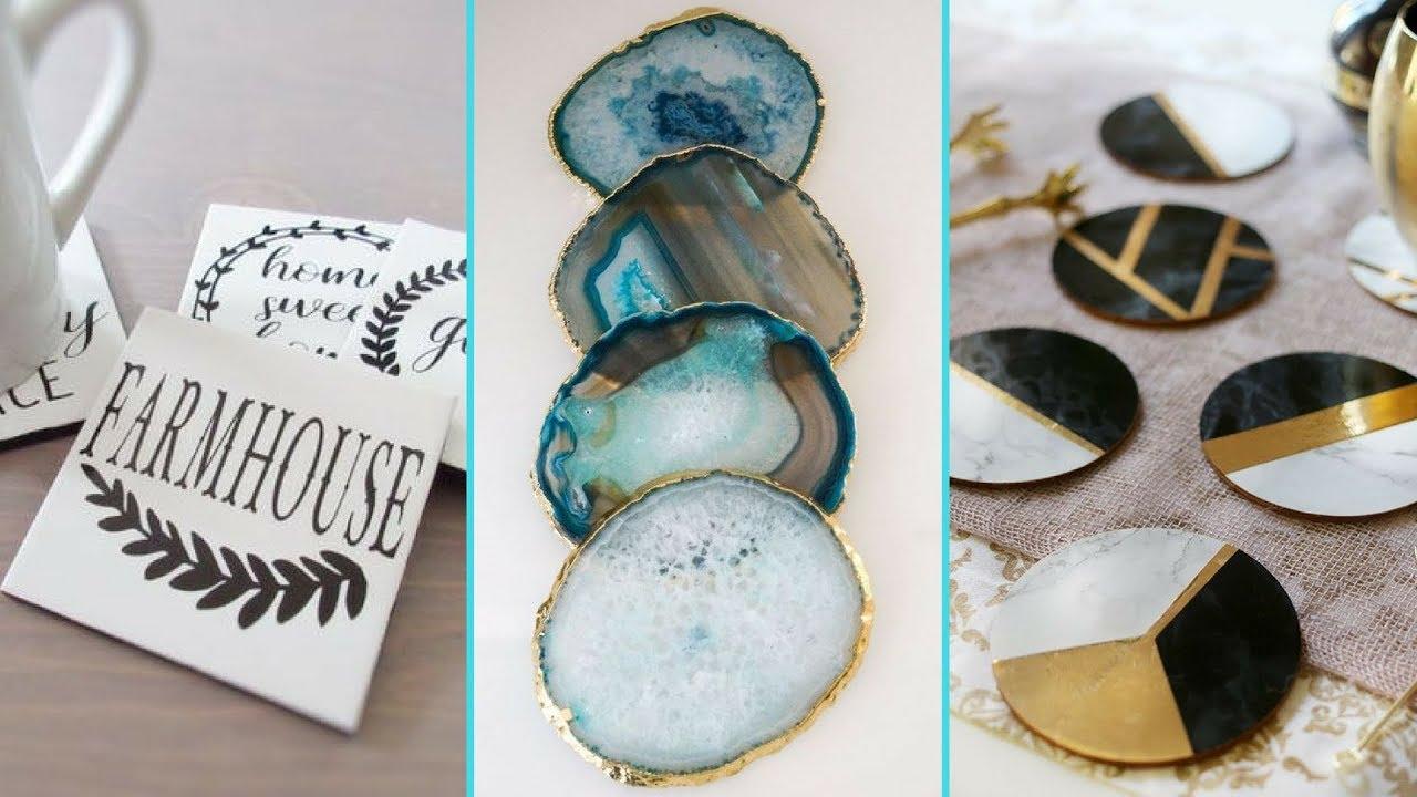 ❤ DIY Shabby chic style Coaster decor Ideas ❤| Home decor ...
