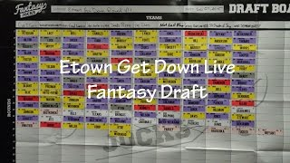 Our Live Fantasy Football Draft 2015