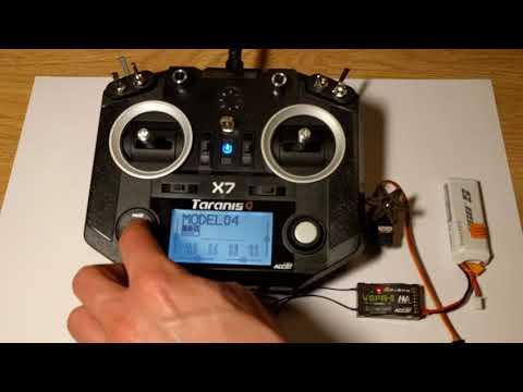 How to bind FrSky V8FR-II to Taranis Q X7 2.4GHz 7CH Transmitter