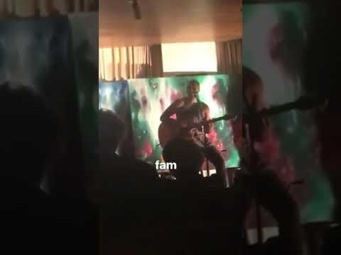 Paris Jackson and Austin Brown singing October 21st 2017