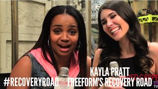 """On the """"Recovery Road"""" set with Kyla Pratt Talking about the New Series #Freeform #RecoveryRoad"""