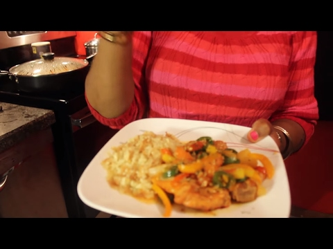 27. Pineapple Brown Sugar Porkchops With Bell Peppers