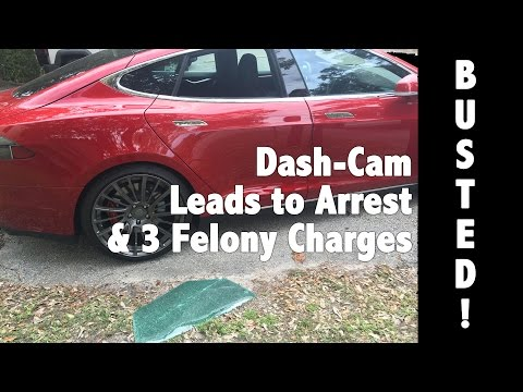 My Tesla Was Broken Into - Blackvue Dash Cam Review Footage Leads To Arrest