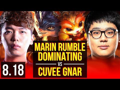 MaRin  RUMBLE vs CuVee  GNAR TOP  Dominating  Korea Challenger  v818