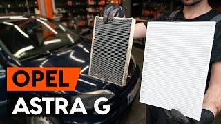 Interieurfilter monteren OPEL ASTRA G Hatchback (F48_, F08_): gratis video