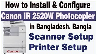 Canon IR2520w Photocopier Complete setup | Scanning, Printing, Networking Troubleshooting|MsquareiT.
