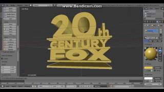 How to Make 20th Century Fox Television 2007 (blender 2.76)