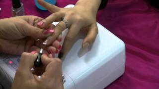 Shellac Application - Nail Art and French Application