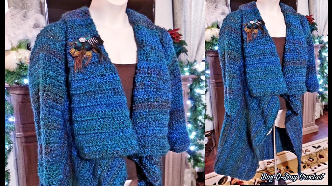 Book Cover Crochet Jacket ~ Crochet how to ladies womens jacket coat cover
