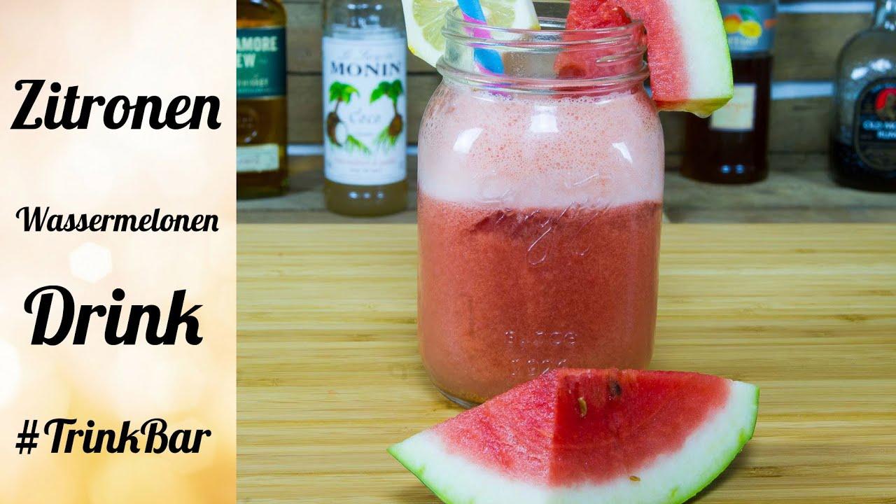 zitronen wassermelonen drink alkoholfreier cocktail selber machen trinkbar youtube. Black Bedroom Furniture Sets. Home Design Ideas