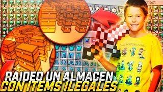 RAIDEO un ALMACÉN con OBJETOS ILEGALES 🚫 | TROLLEOS EN MINECRAFT #227