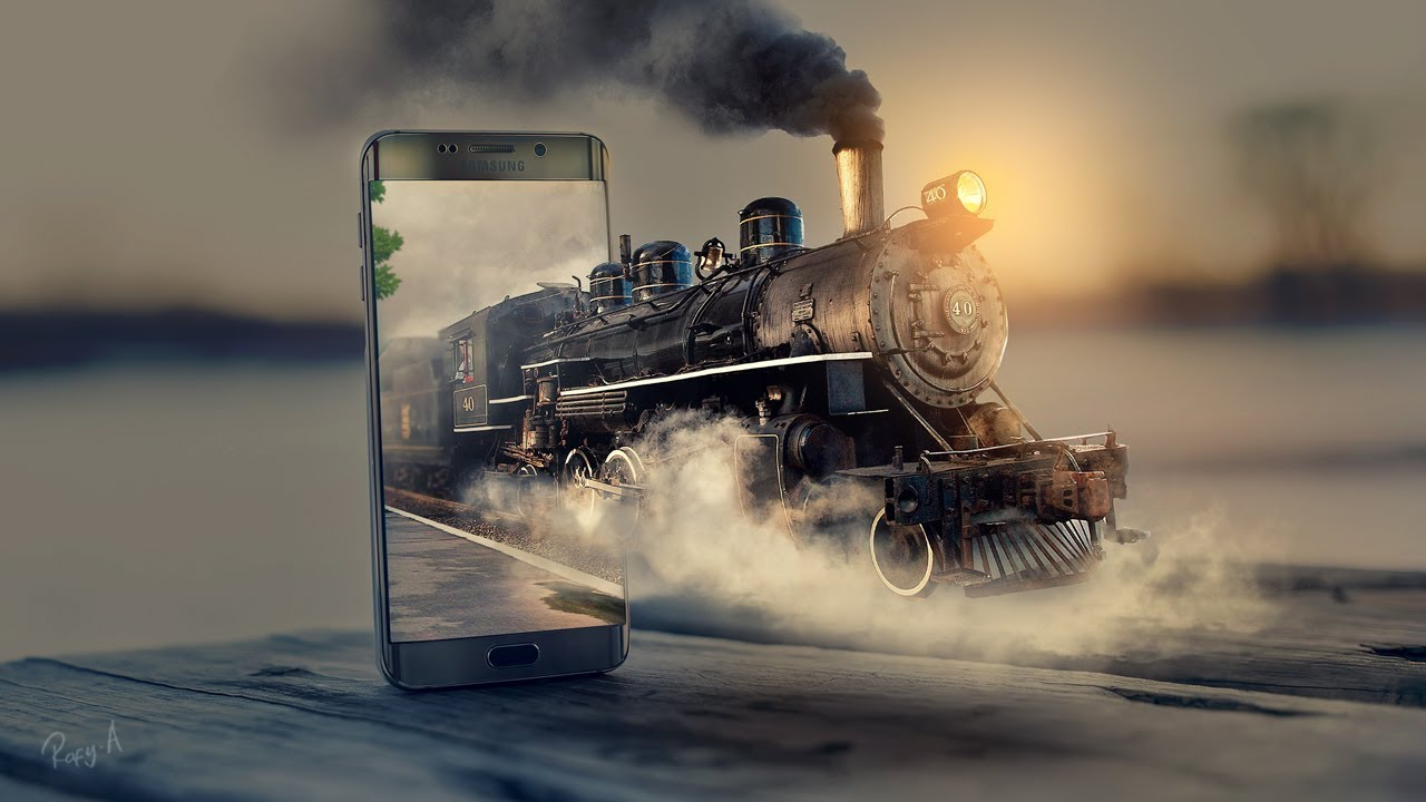 How to Make 3D Pop Out Locomotive Effect in Photoshop Cc